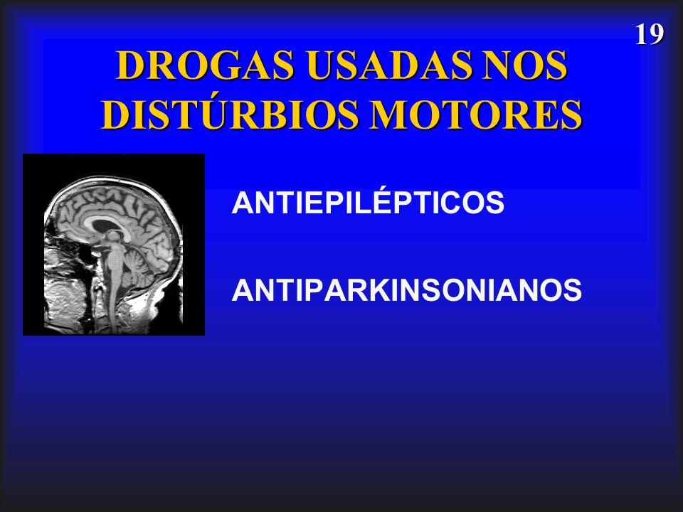19 DROGAS USADAS NOS DISTÚRBIOS MOTORES ANTIEPILÉPTICOS ANTIPARKINSONIANOS