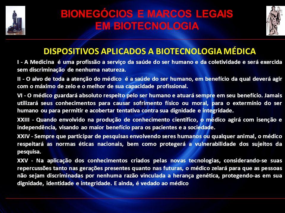 DISPOSITIVOS APLICADOS A BIOTECNOLOGIA MÉDICA I - A Medicina é uma profissão a serviço da saúde do ser humano e da coletividade e será exercida sem di