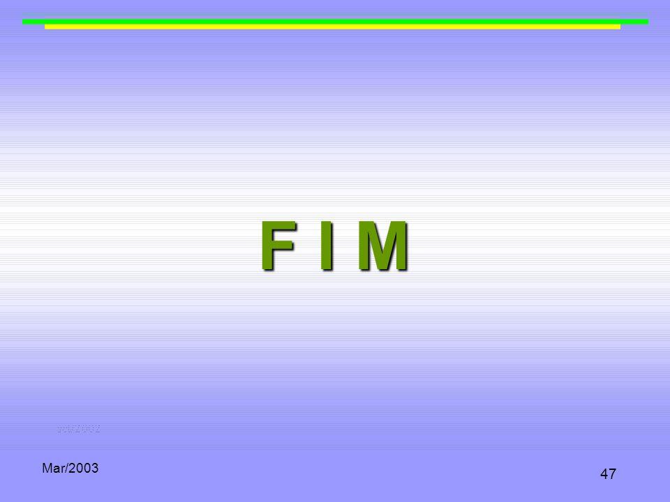 Mar/2003 47 F I M