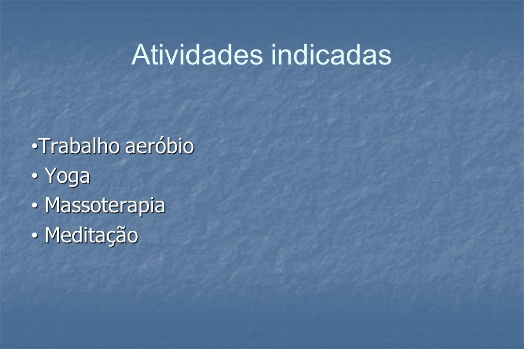 Triglicerídeos elevado Benefícios Benefícios Diminuição da % de gordura Metabolismo das gorduras circulantes, aumentando a atividade da enzima (lípase lipoprotéica )