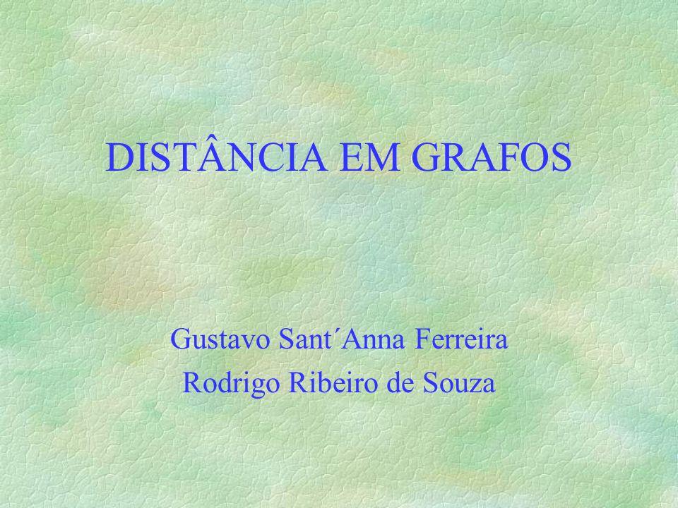 DISTÂNCIA EM GRAFOS Gustavo Sant´Anna Ferreira Rodrigo Ribeiro de Souza
