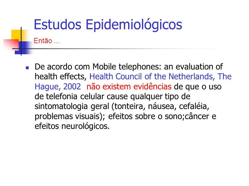 De acordo com Mobile telephones: an evaluation of health effects, Health Council of the Netherlands, The Hague, 2002 não existem evidências de que o u