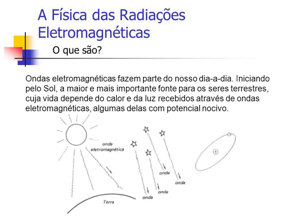 A Física das Radiações Eletromagnéticas O que são? Ondas eletromagnéticas fazem parte do nosso dia-a-dia. Iniciando pelo Sol, a maior e mais important