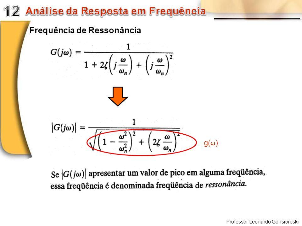 Professor Leonardo Gonsioroski Frequência de Ressonância g( )