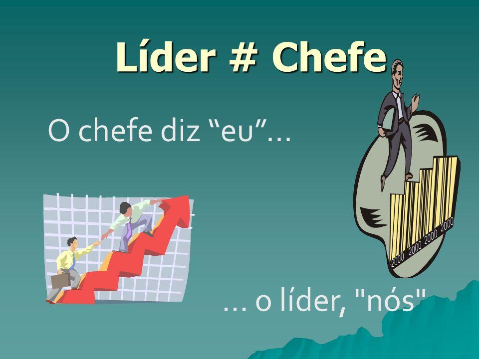 Líder # Chefe Líder # Chefe O chefe diz eu...... o líder,