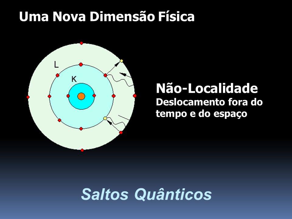 Saltos Quânticos Não-Localidade Deslocamento fora do tempo e do espaço Uma Nova Dimensão Física