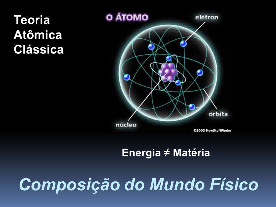 Composição do Mundo Físico Teoria Atômica Clássica Energia Matéria