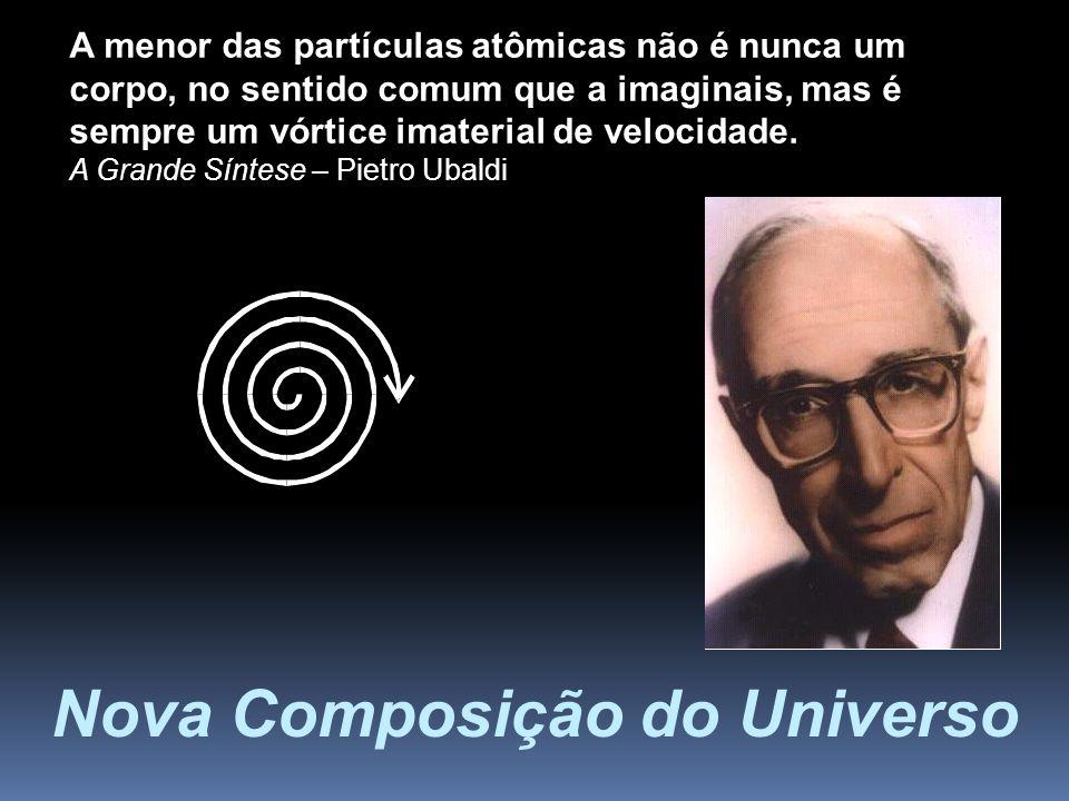 Nova Composição do Universo A menor das partículas atômicas não é nunca um corpo, no sentido comum que a imaginais, mas é sempre um vórtice imaterial