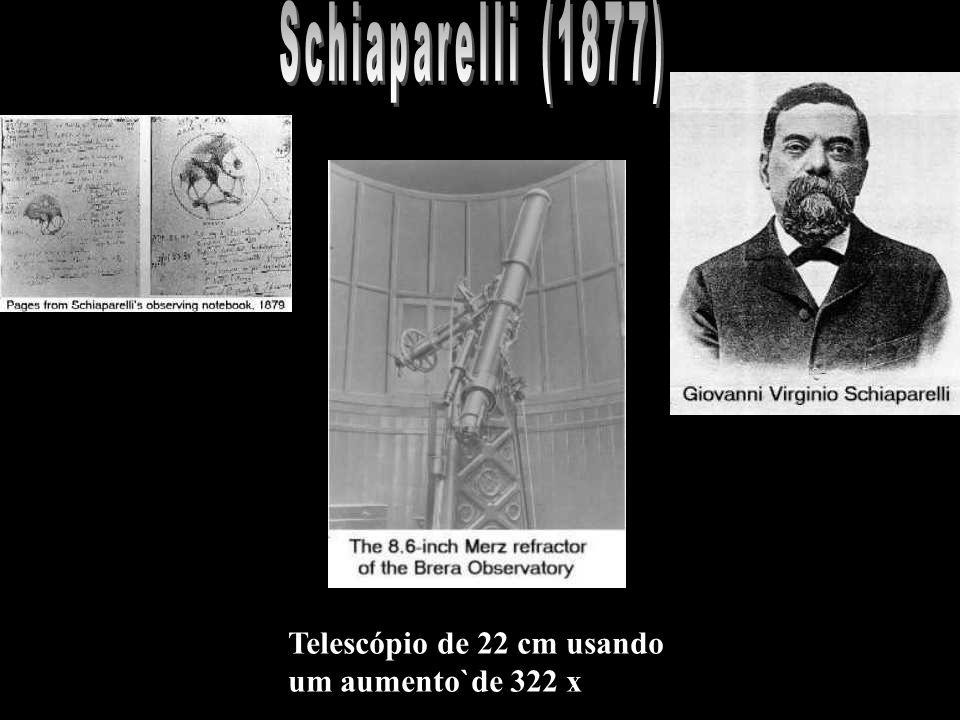 Telescópio de 22 cm usando um aumento`de 322 x