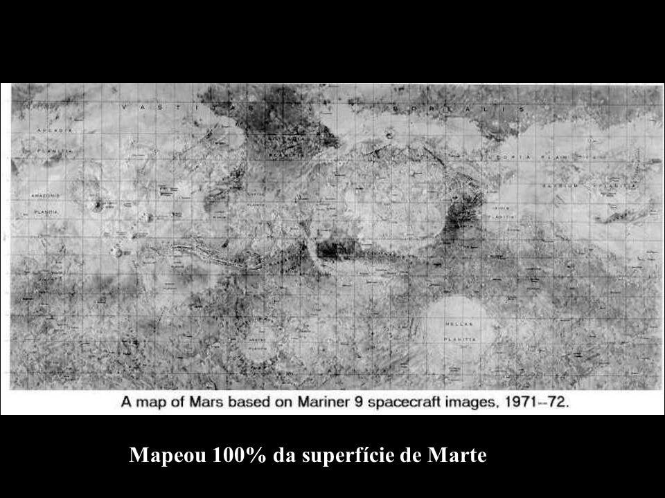 Mapeou 100% da superfície de Marte