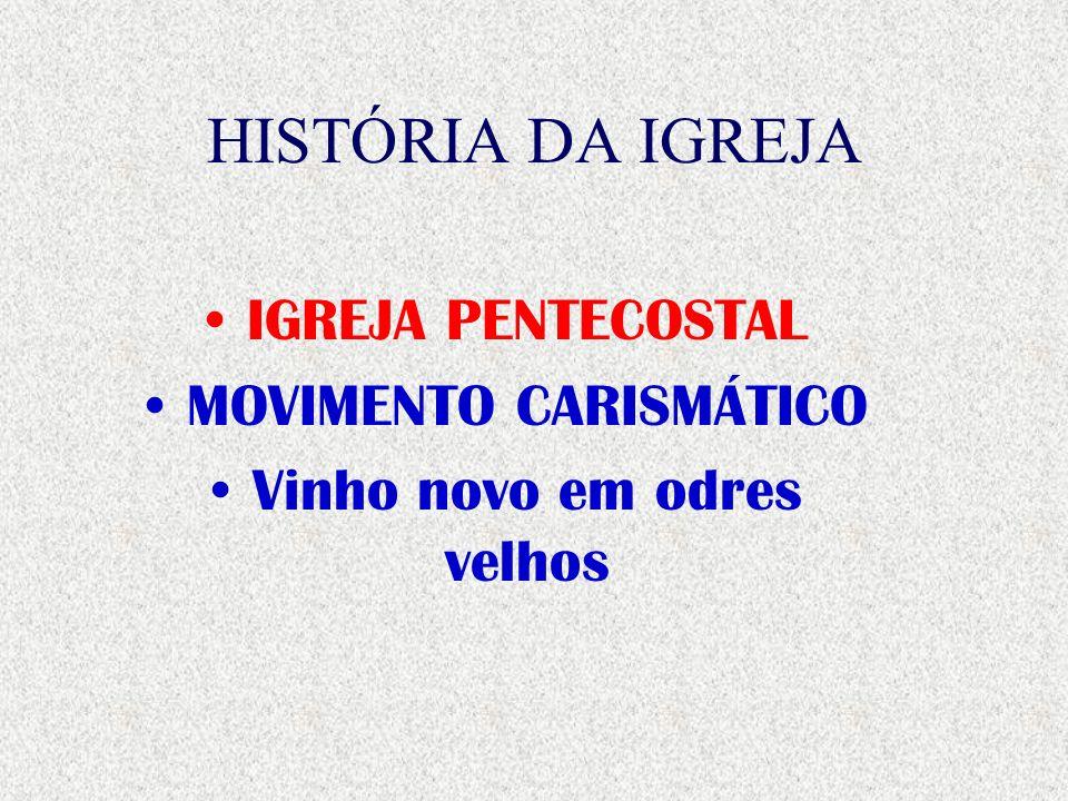 HISTÓRIA DA IGREJA IGREJA DO AVIVAMENTO MOVIMENTO DE DEUS TRAZENDO VINHO NOVO EM ODRES VELHOS.