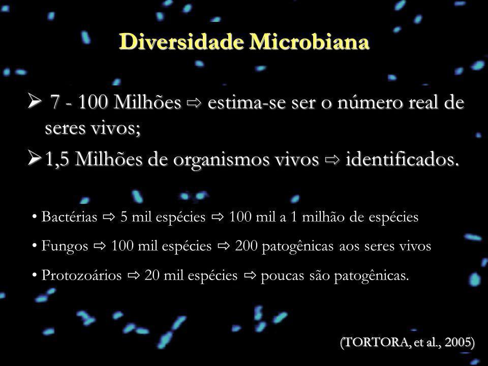 7 - 100 Milhões estima-se ser o número real de seres vivos; 7 - 100 Milhões estima-se ser o número real de seres vivos; 1,5 Milhões de organismos vivo