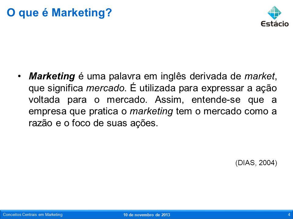 Marketing é uma palavra em inglês derivada de market, que significa mercado. É utilizada para expressar a ação voltada para o mercado. Assim, entende-