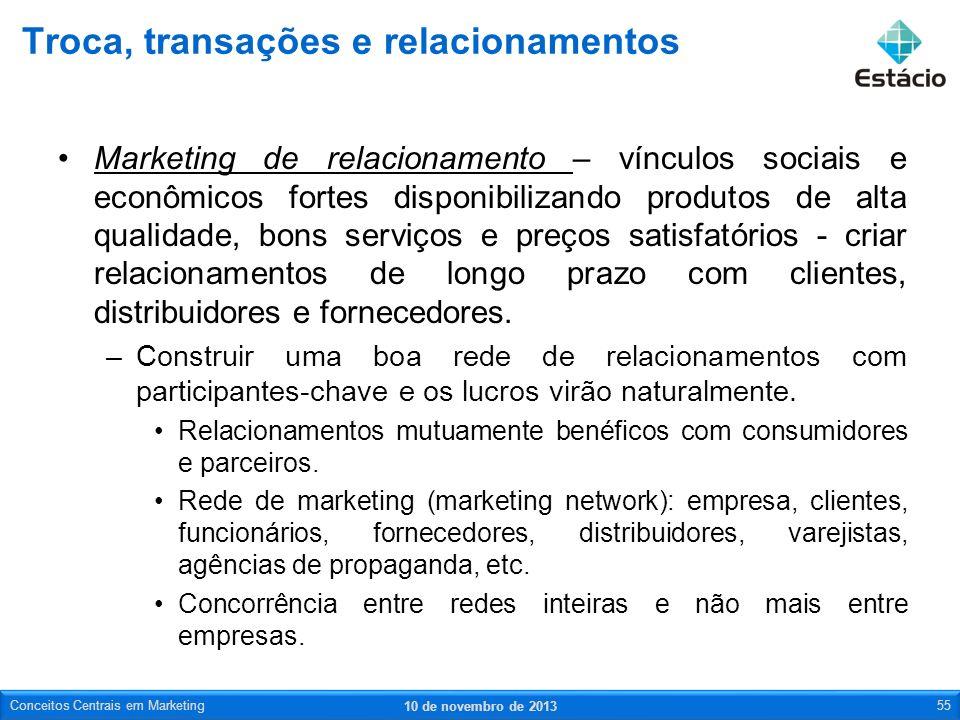 Marketing de relacionamento – vínculos sociais e econômicos fortes disponibilizando produtos de alta qualidade, bons serviços e preços satisfatórios -