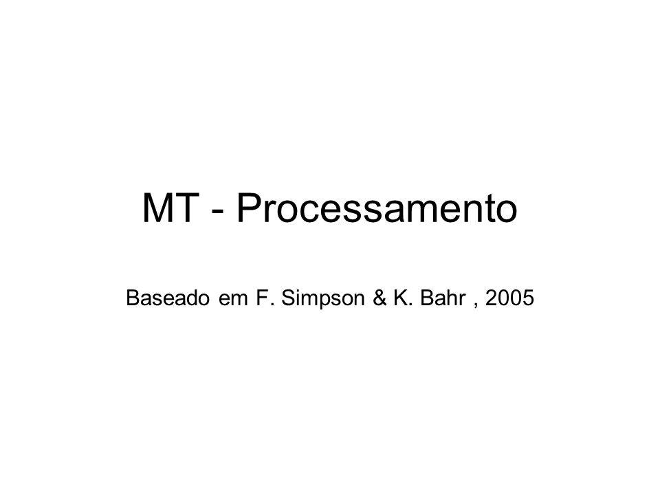 MT - Processamento Baseado em F. Simpson & K. Bahr, 2005