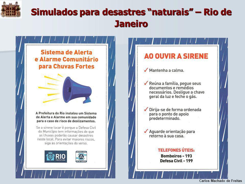 Carlos Machado de Freitas Simulados para desastres naturais – Rio de Janeiro