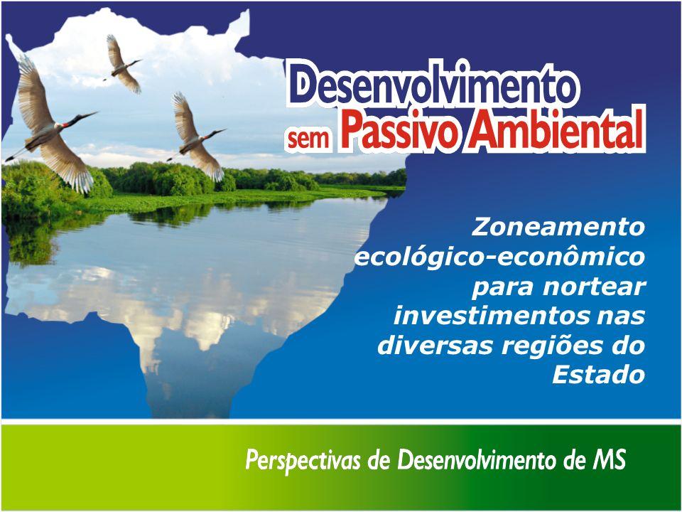 Zoneamento ecológico-econômico para nortear investimentos nas diversas regiões do Estado