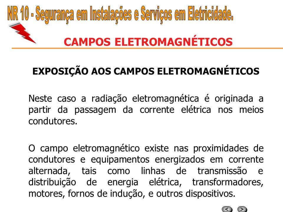 > > < < CAMPOS ELETROMAGNÉTICOS EXPOSIÇÃO AOS CAMPOS ELETROMAGNÉTICOS A exposição à radiação eletromagnética (EMR). O agente de risco radiação eletrom