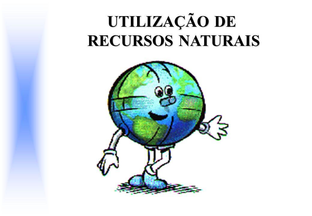 UTILIZAÇÃO DE RECURSOS NATURAIS RECURSOS NATURAIS