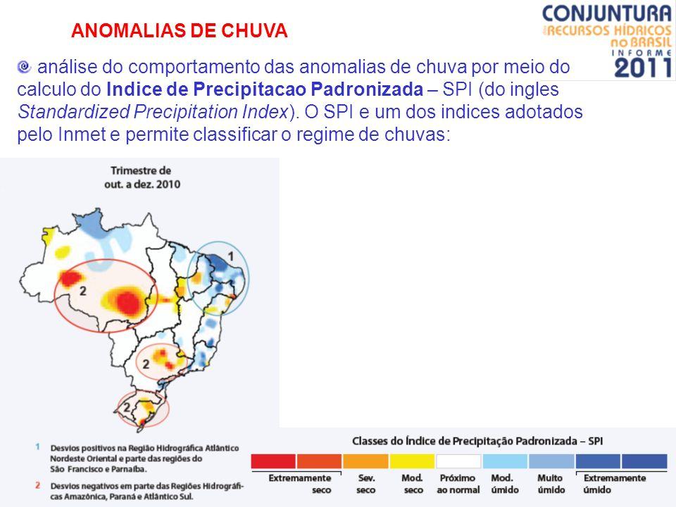 ANOMALIAS DE CHUVA análise do comportamento das anomalias de chuva por meio do calculo do Indice de Precipitacao Padronizada – SPI (do ingles Standard