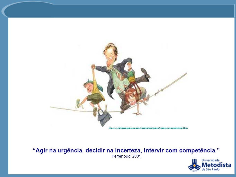 Agir na urgência, decidir na incerteza, intervir com competência. Perrenoud, 2001 http://www.planetaeducacao.com.br/portal/imagens/artigos/literatura/