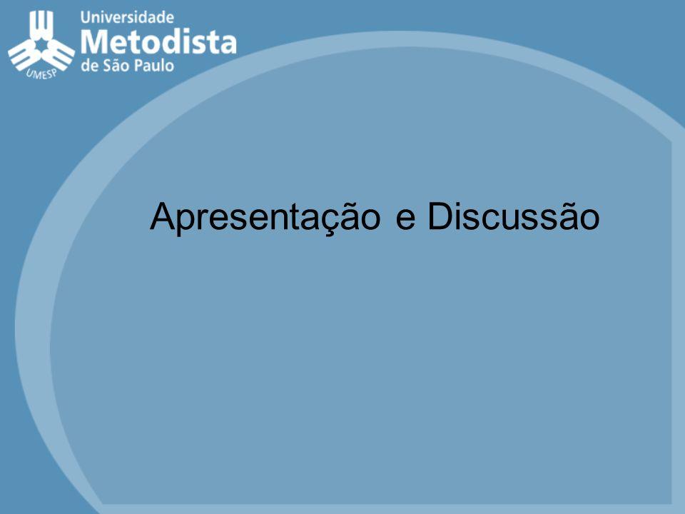 Apresentação e Discussão