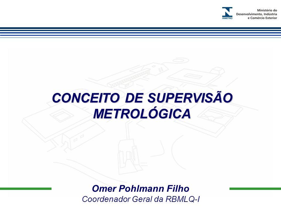 CONCEITO DE SUPERVISÃO METROLÓGICA Omer Pohlmann Filho Coordenador Geral da RBMLQ-I