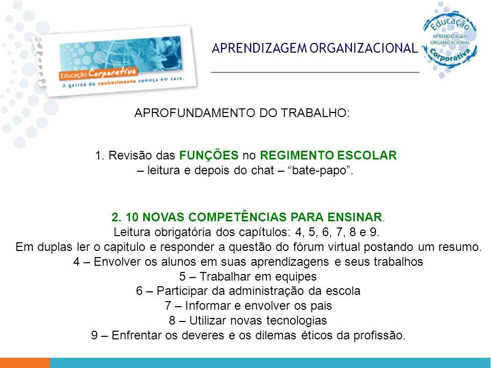 APRENDIZAGEM ORGANIZACIONAL 1.