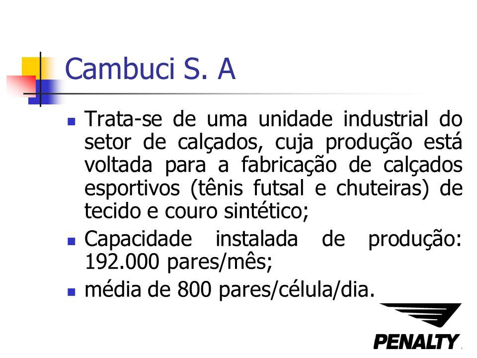 Cambuci S. A Trata-se de uma unidade industrial do setor de calçados, cuja produção está voltada para a fabricação de calçados esportivos (tênis futsa