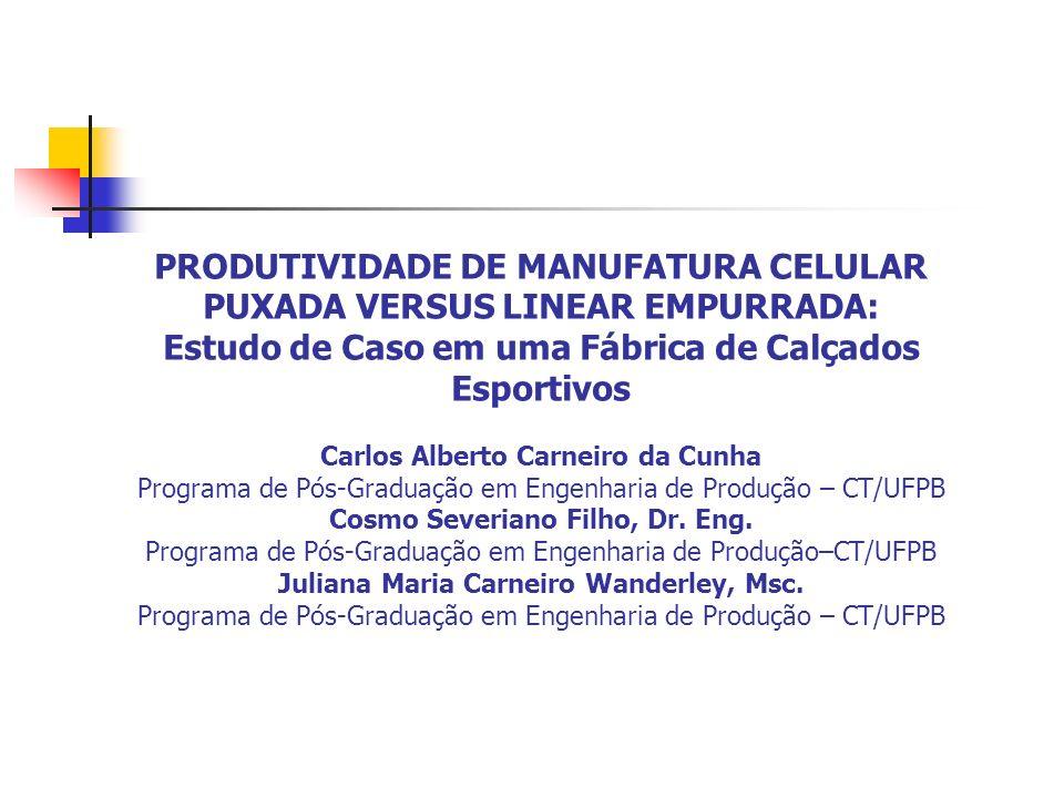 PRODUTIVIDADE DE MANUFATURA CELULAR PUXADA VERSUS LINEAR EMPURRADA: Estudo de Caso em uma Fábrica de Calçados Esportivos Carlos Alberto Carneiro da Cu