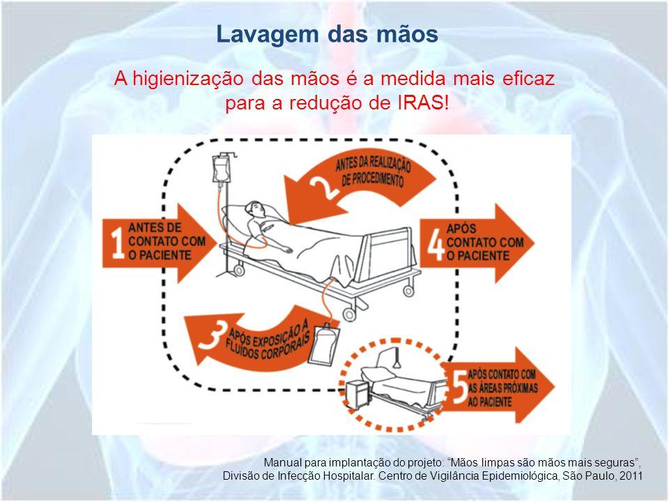 Manual para implantação do projeto: Mãos limpas são mãos mais seguras, Divisão de Infecção Hospitalar. Centro de Vigilância Epidemiológica, São Paulo,
