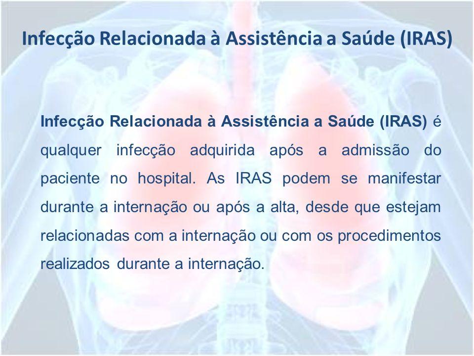 Infecção Relacionada à Assistência a Saúde (IRAS) Infecção Relacionada à Assistência a Saúde (IRAS) é qualquer infecção adquirida após a admissão do p