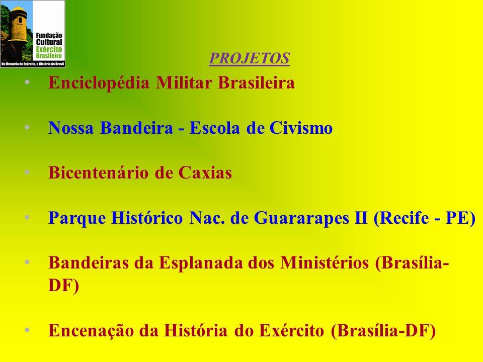 Enciclopédia Militar Brasileira Nossa Bandeira - Escola de Civismo Bicentenário de Caxias Parque Histórico Nac. de Guararapes II (Recife - PE) Bandeir