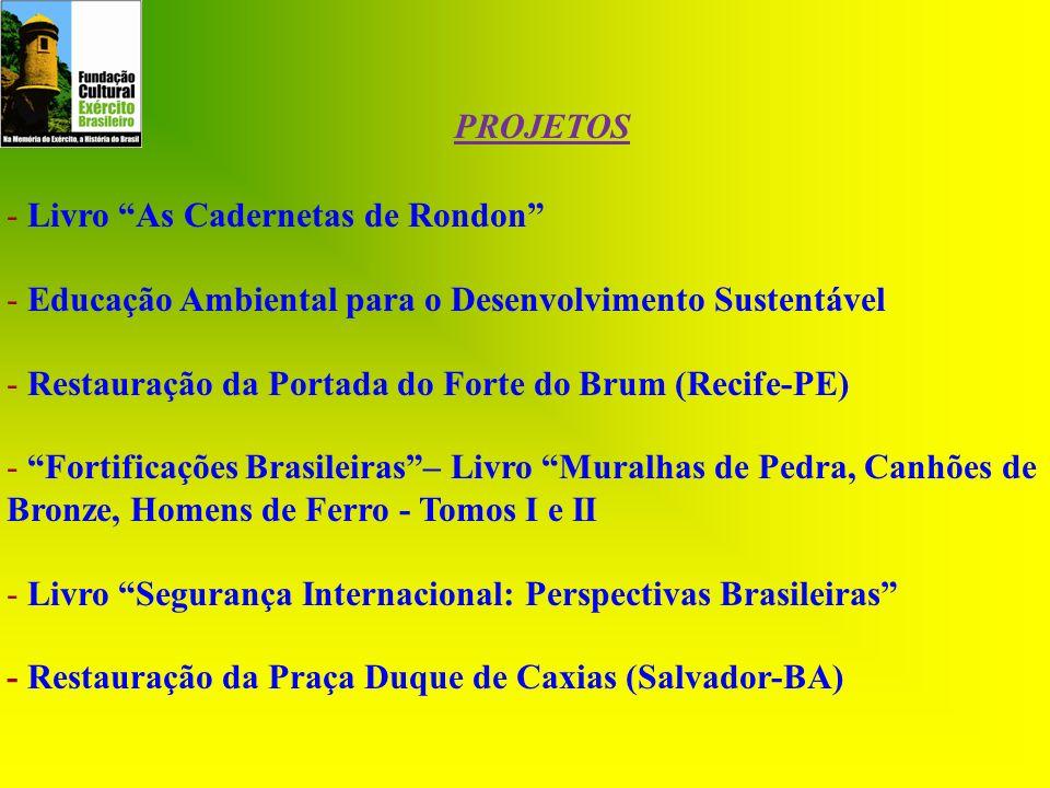 - Livro As Cadernetas de Rondon - Educação Ambiental para o Desenvolvimento Sustentável - Restauração da Portada do Forte do Brum (Recife-PE) - Fortif