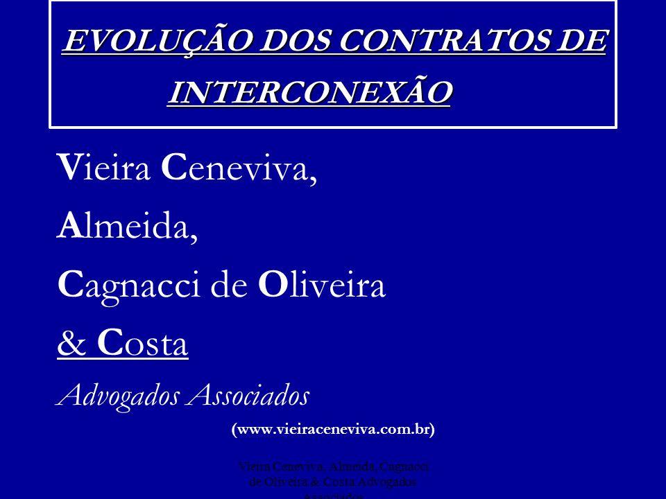 Vieira Ceneviva, Almeida, Cagnacci de Oliveira & Costa Advogados Associados Lucratividade Interconexão/Uso de Rede Receitas TelemarR$ 1.278.176.000 ATLR$ 268.134.000 TelespR$ 1.229.369.000 TCOR$ 324.402.000 TelespCelularR$ 706.341.000 BrasilTelecomR$ 683.152.000 DE BOAS INTENÇÕES...
