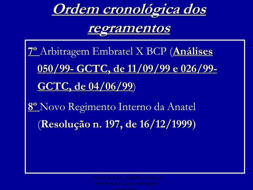 Vieira Ceneviva, Almeida, Cagnacci de Oliveira & Costa Advogados Associados Ordem cronológica dos regramentos 7º Análises 050/99- GCTC, de 11/09/99 e