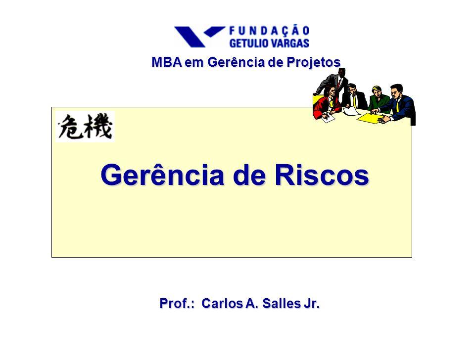 Gerência de Riscos MBA em Gerência de Projetos Prof.: Carlos A. Salles Jr.