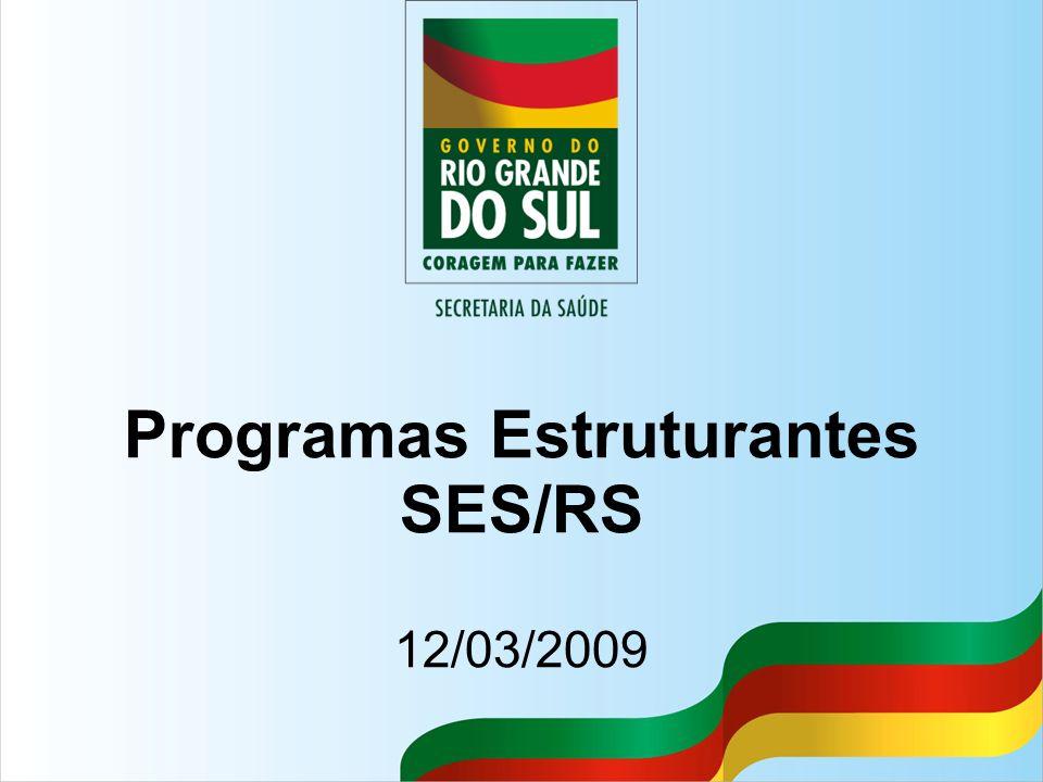 Programas Estruturantes SES/RS 12/03/2009