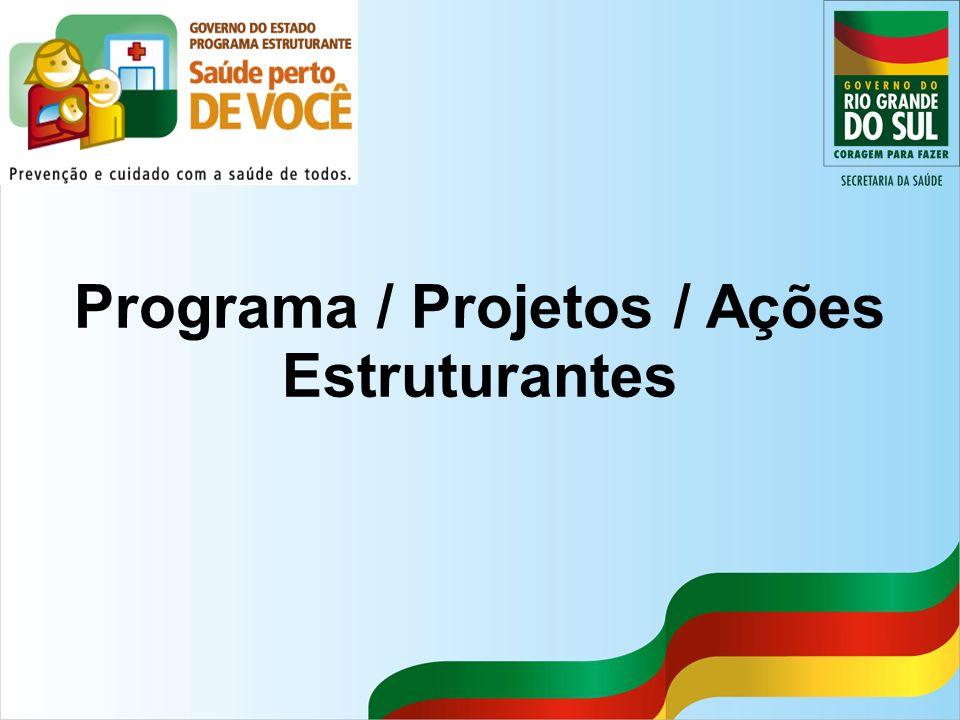 Programa / Projetos / Ações Estruturantes