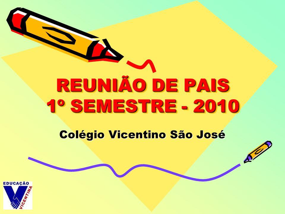 REUNIÃO DE PAIS 1º SEMESTRE - 2010 Colégio Vicentino São José