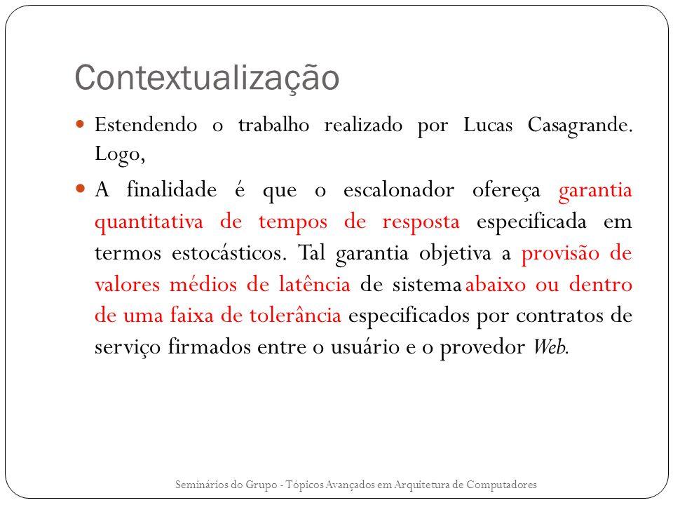 Contextualização Estendendo o trabalho realizado por Lucas Casagrande. Logo, A finalidade é que o escalonador ofereça garantia quantitativa de tempos