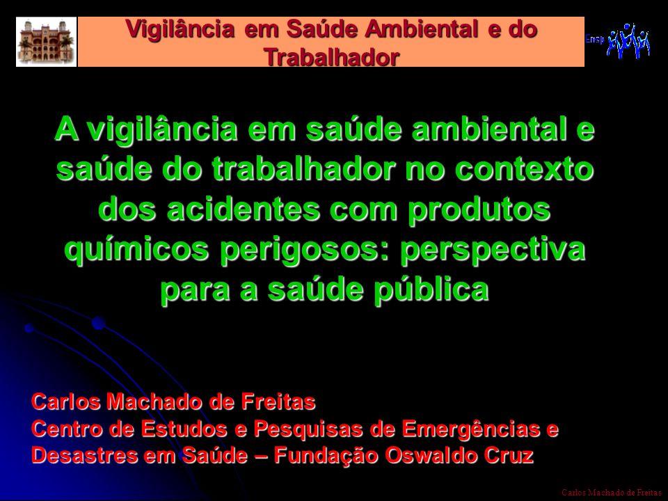 Vigilância em Saúde Ambiental e do Trabalhador Carlos Machado de Freitas A vigilância em saúde ambiental e saúde do trabalhador no contexto dos aciden
