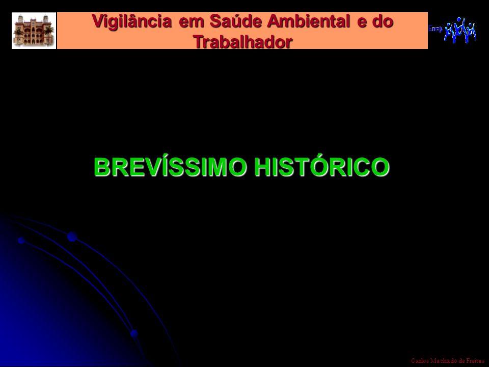 Vigilância em Saúde Ambiental e do Trabalhador Carlos Machado de Freitas BREVÍSSIMO HISTÓRICO