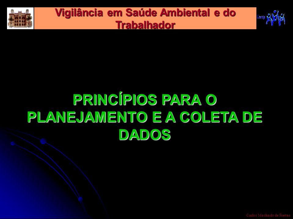Vigilância em Saúde Ambiental e do Trabalhador Carlos Machado de Freitas PRINCÍPIOS PARA O PLANEJAMENTO E A COLETA DE DADOS