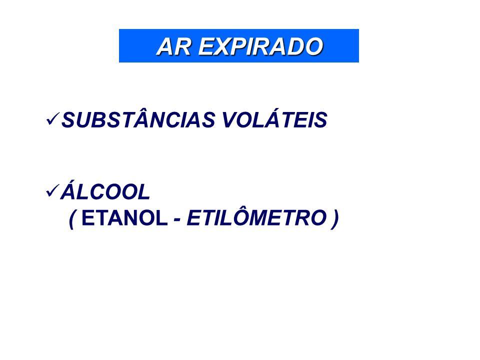 AR EXPIRADO SUBSTÂNCIAS VOLÁTEIS ÁLCOOL ( ETANOL - ETILÔMETRO )