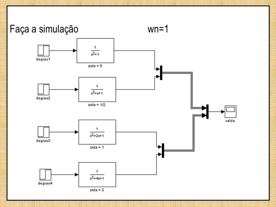 Faça a simulação wn=1