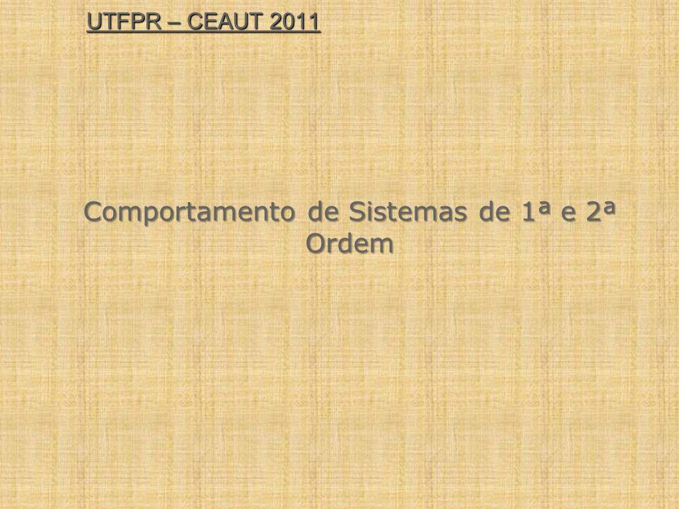 UTFPR – CEAUT 2011 Comportamento de Sistemas de 1ª e 2ª Ordem