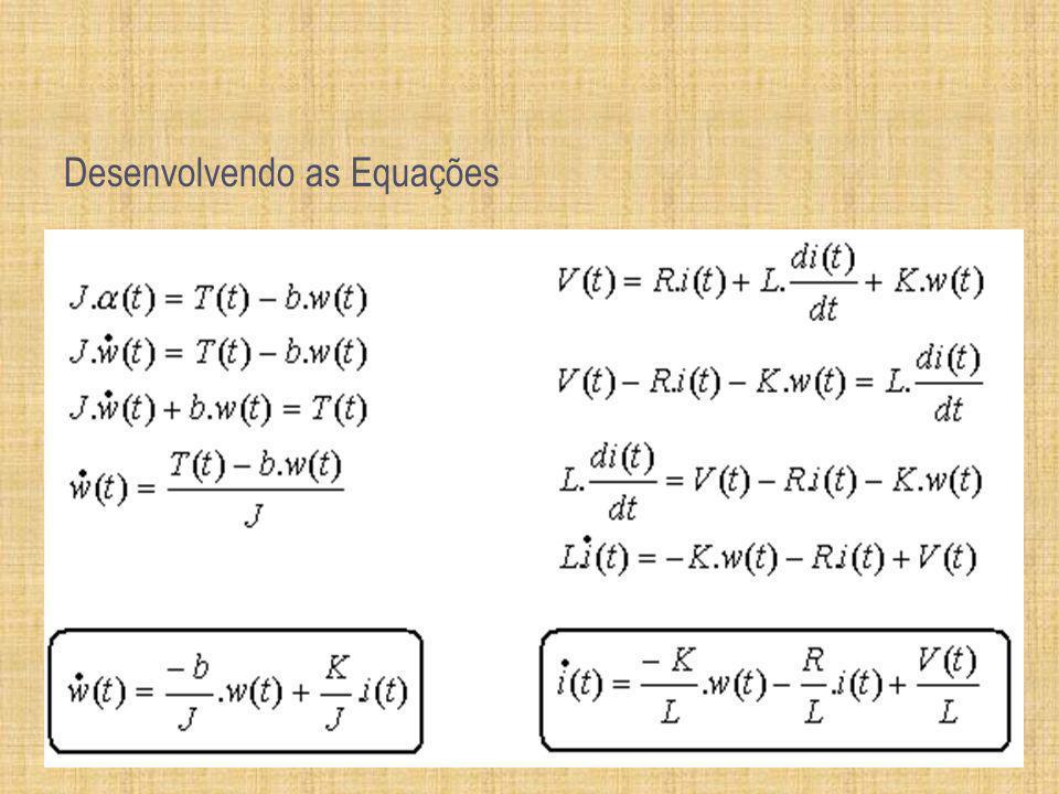 Desenvolvendo as Equações