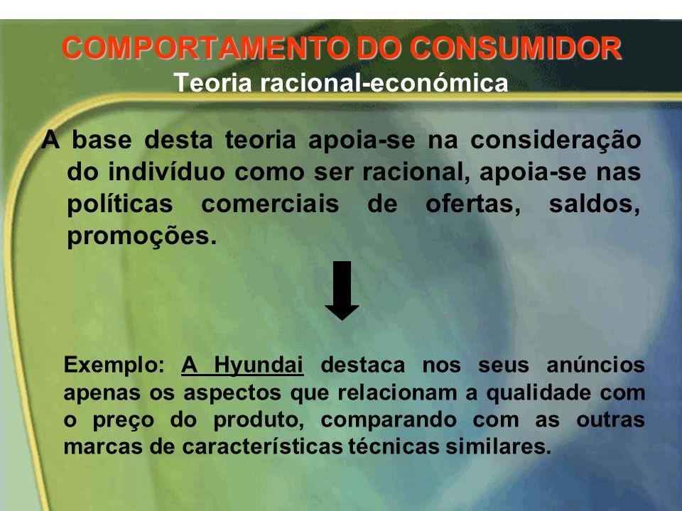 COMPORTAMENTO DO CONSUMIDOR Teoria racional-económica, EM RESUMO: A perspectiva custo/benefício e os pressupostos associados ao comportamento de procu