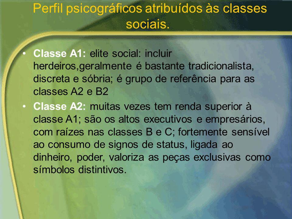 CLASSES SOCIOECONÔMICAS Permite agrupar as pessoas em estratos que combinam fatores como ocupação, educação, riqueza e renda. As pessoas de uma mesma